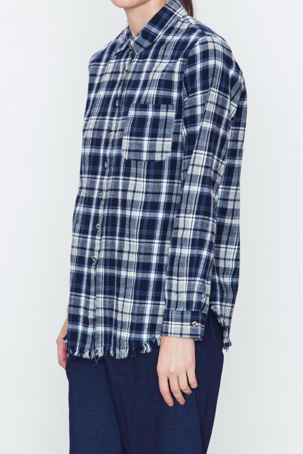 Movint Checkered Blue Plaid Shirt - Front Full Image