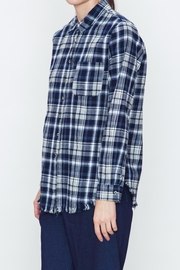 Movint Checkered Blue Plaid Shirt - Front full body