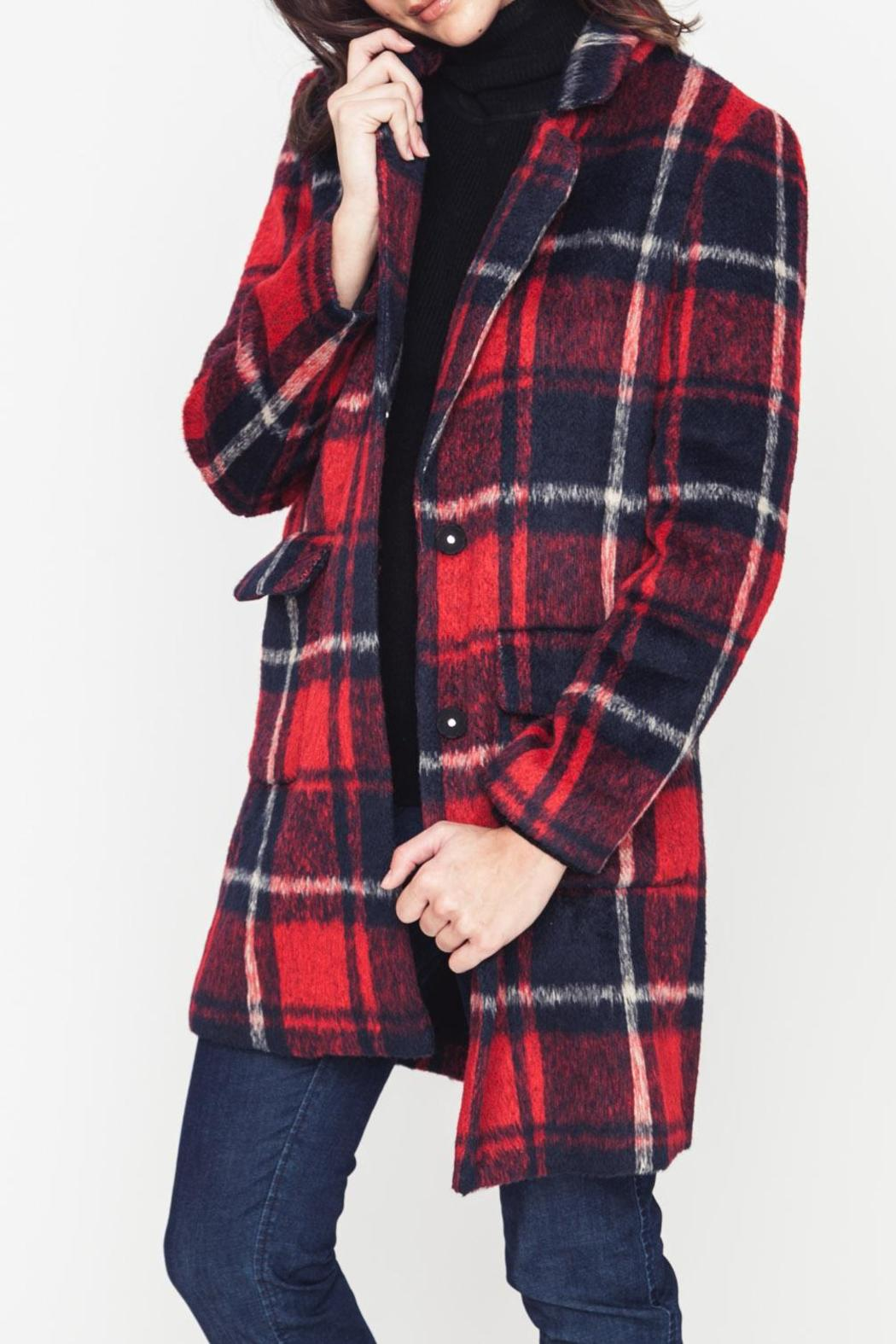 Movint Plaid Coat - Front Full Image