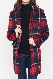 Movint Plaid Coat - Front cropped