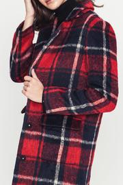 Movint Plaid Coat - Back cropped