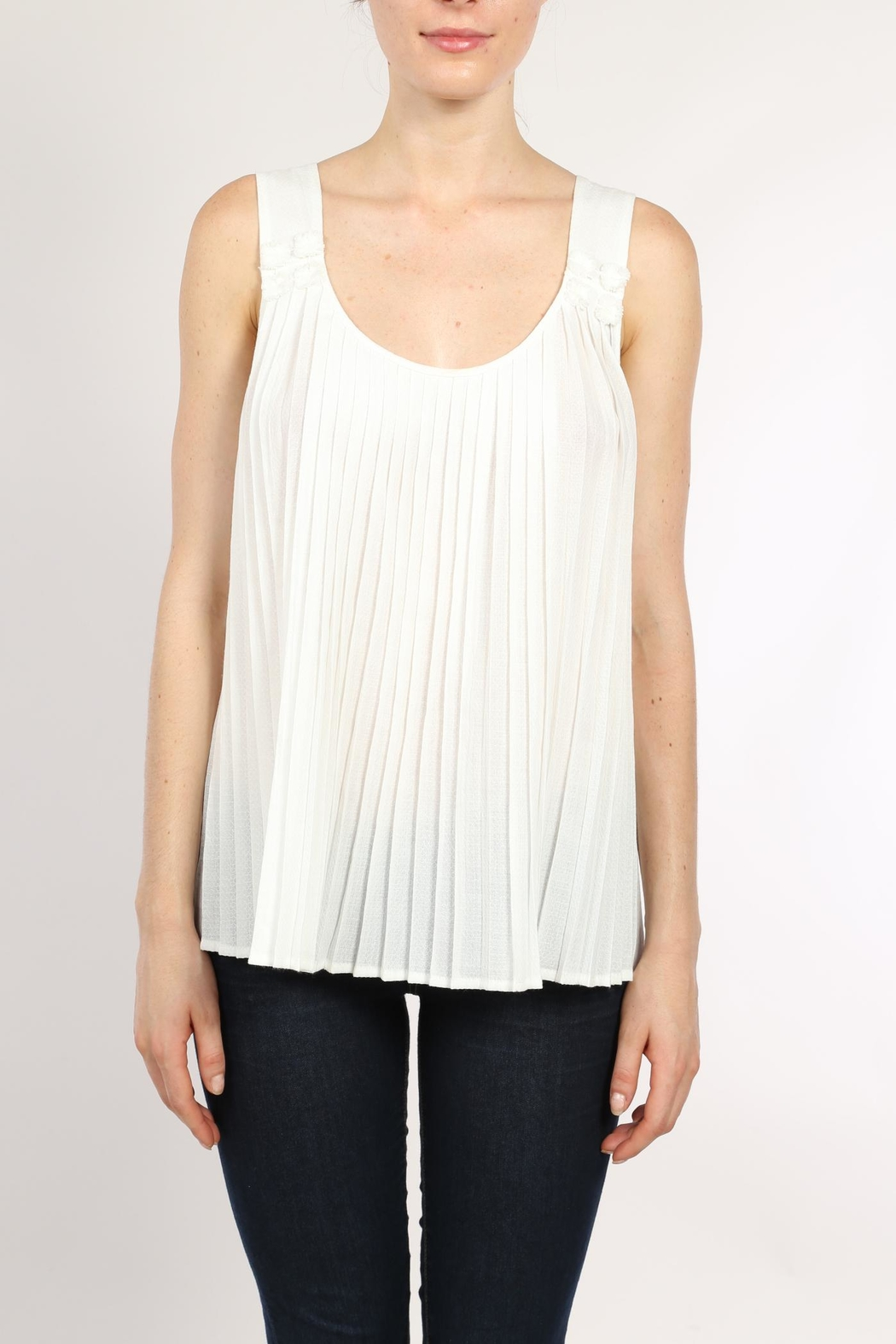 Movint White Pleated Top - Main Image