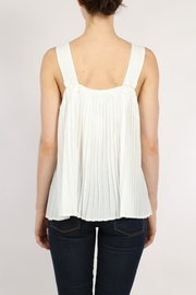 Movint White Pleated Top - Side cropped