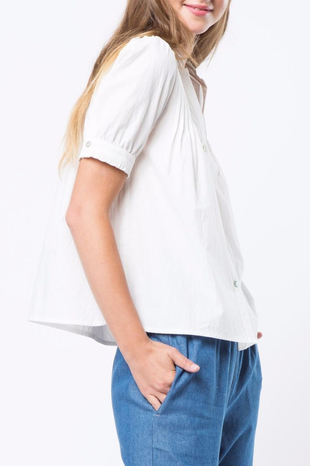 Movint High Neck Blouse - Side Cropped Image