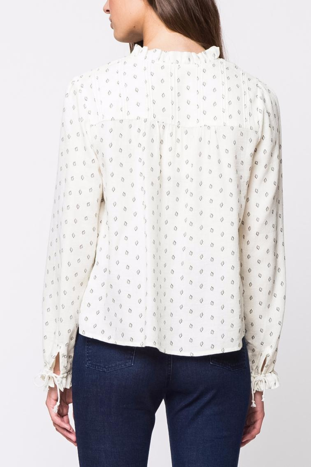 Movint Pleats Long Sleeve Top - Front Full Image