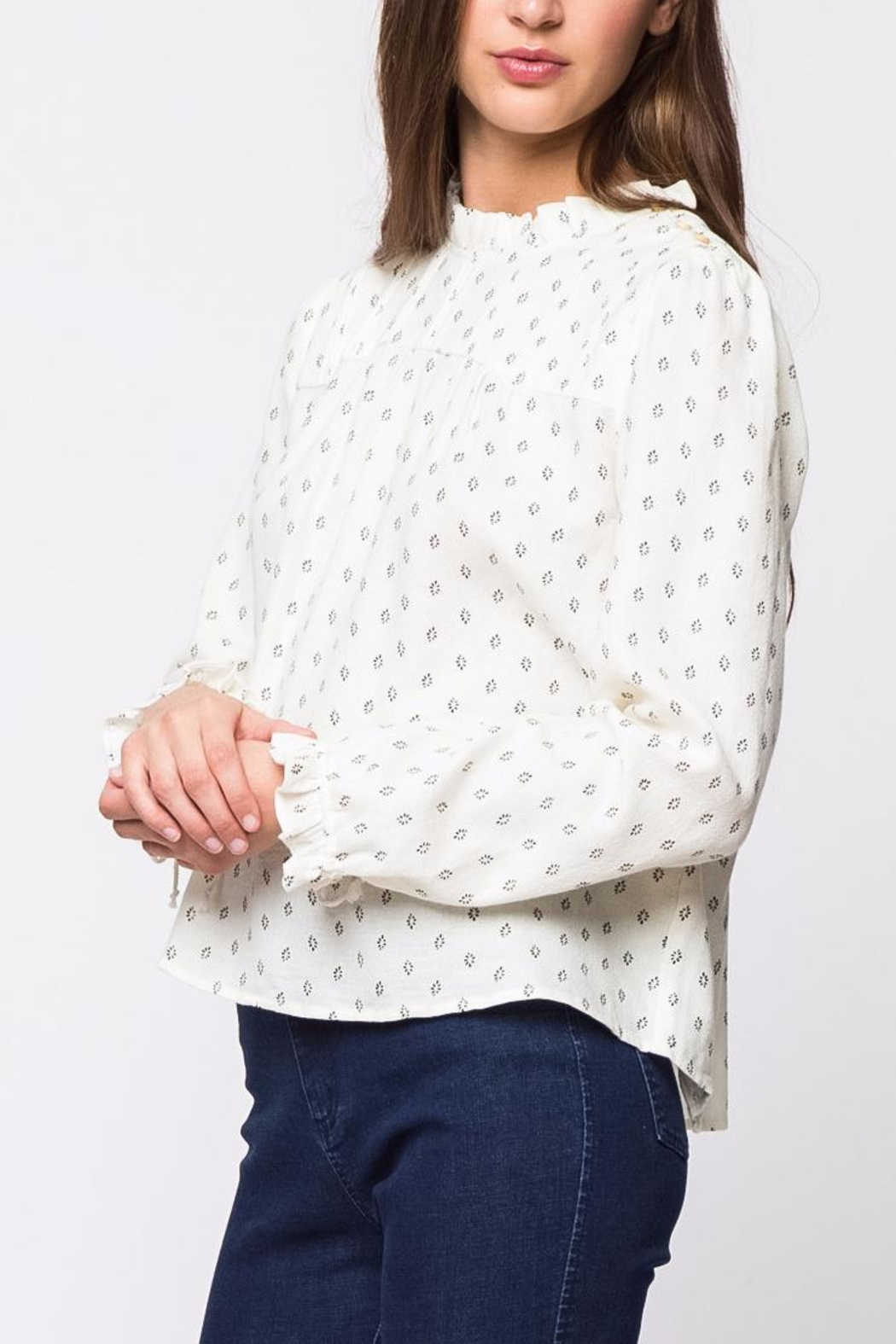Movint Pleats Long Sleeve Top - Side Cropped Image