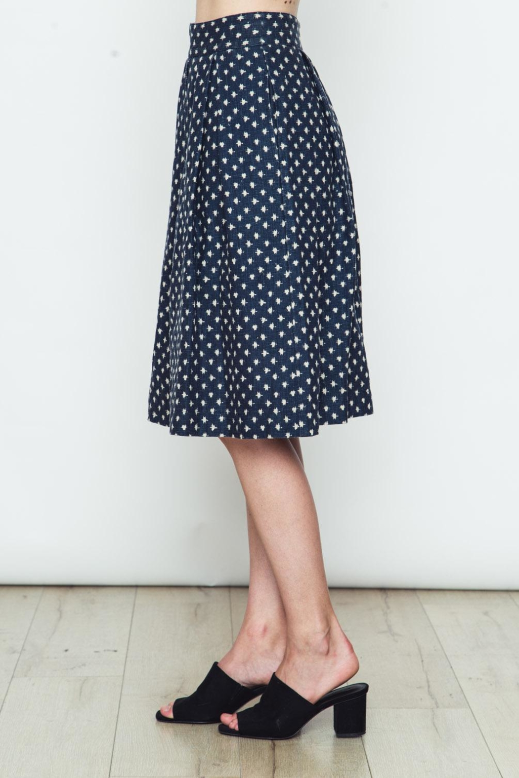 Movint Polka Dot Flared Skirt - Front Full Image