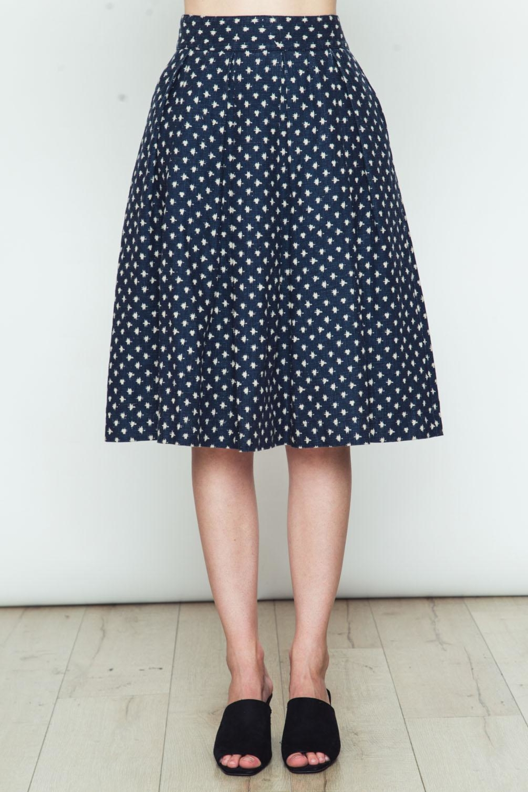 Movint Polka Dot Flared Skirt - Main Image