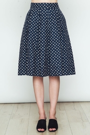 Movint Polka Dot Flared Skirt - Front cropped
