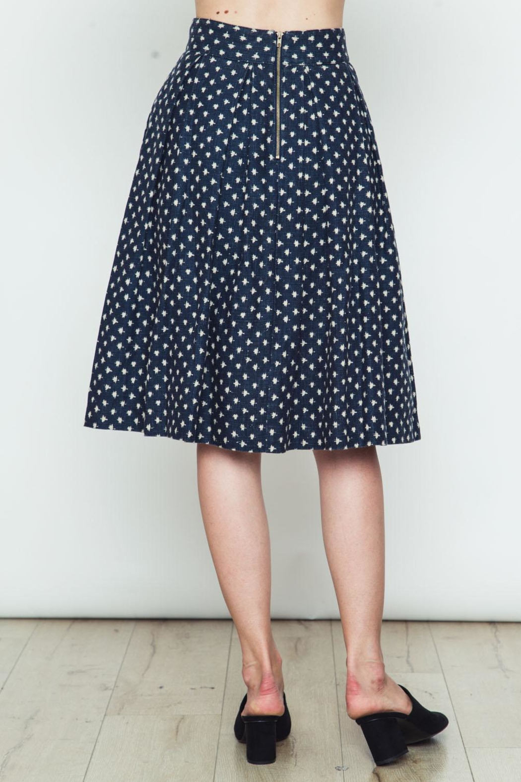 Movint Polka Dot Flared Skirt - Side Cropped Image