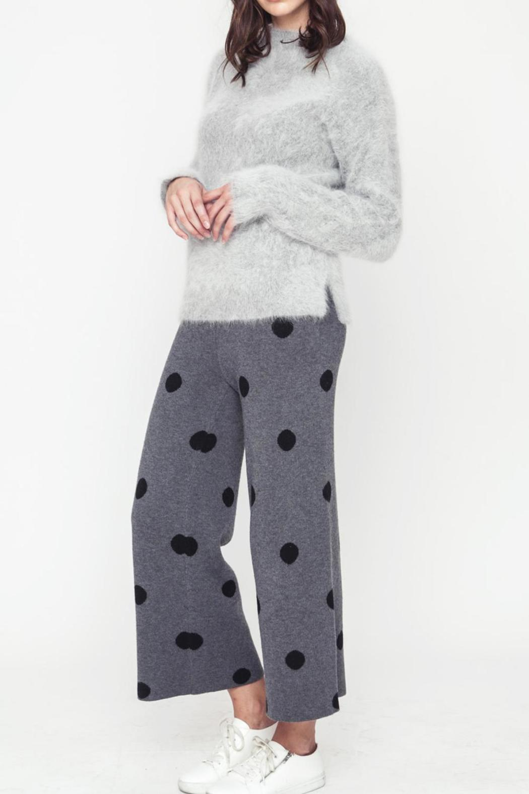 Movint Polka Dot Sweater Pants - Front Full Image