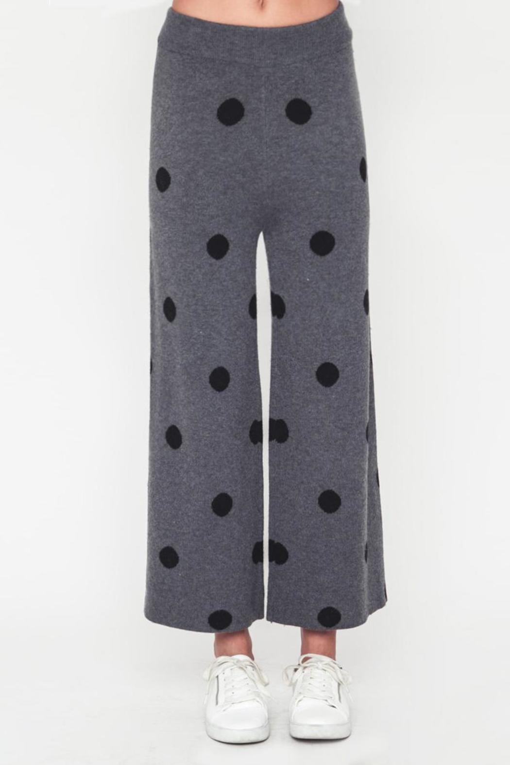 Movint Polka Dot Sweater Pants - Side Cropped Image