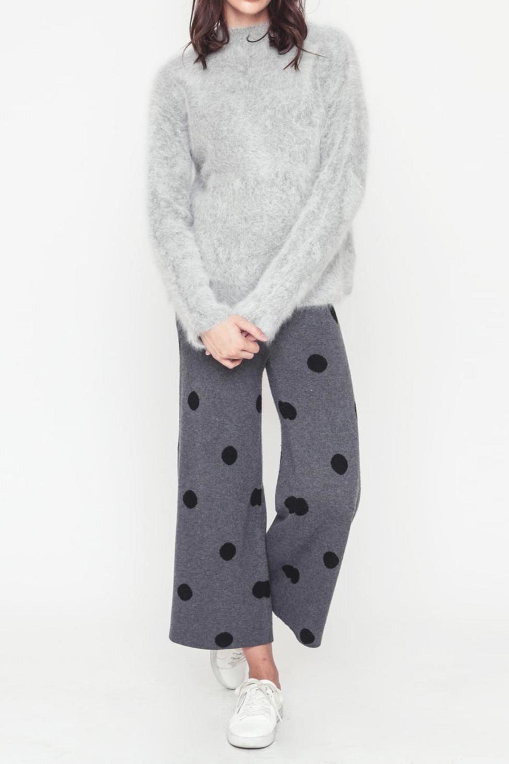 Movint Polka Dot Sweater Pants - Front Cropped Image