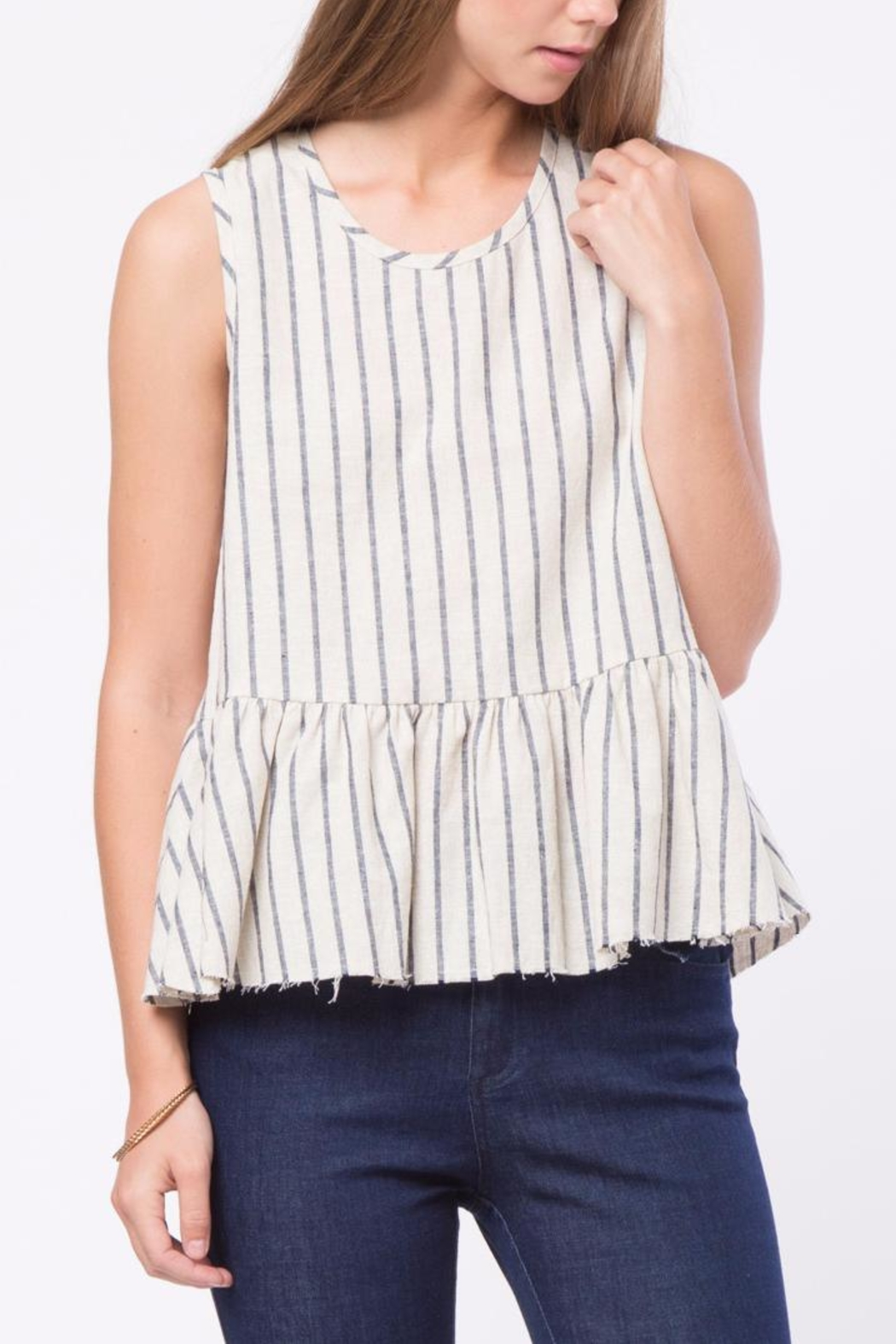Movint Raw Hem Tank Top - Front Cropped Image
