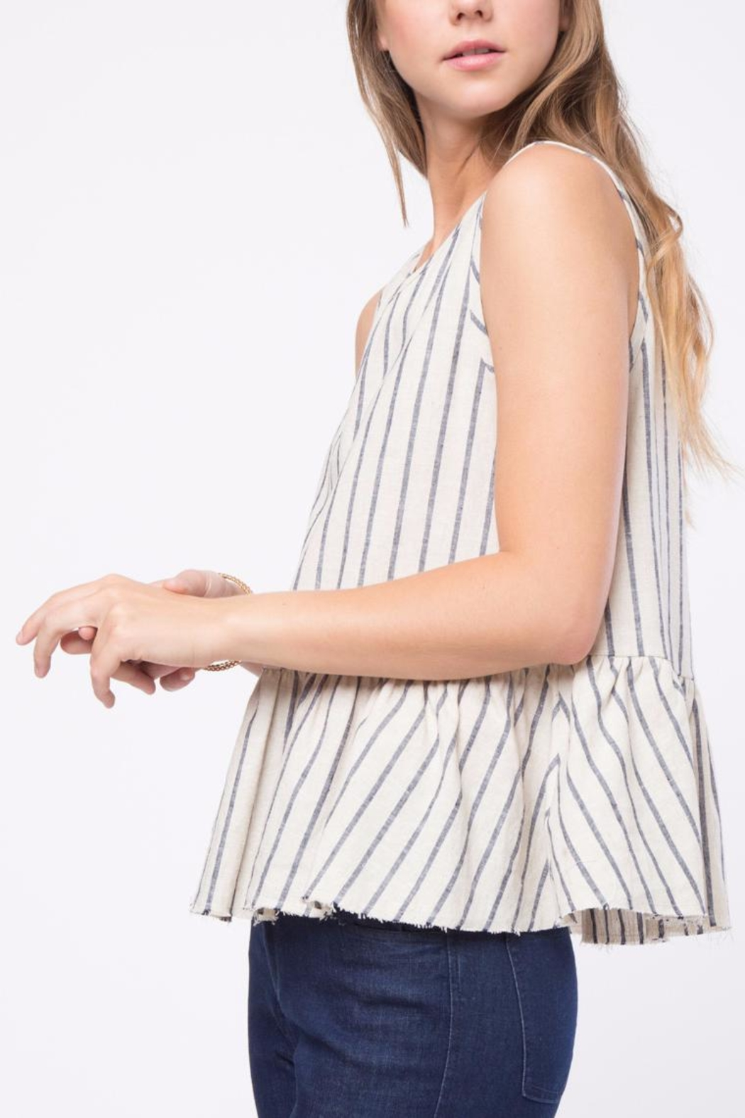 Movint Raw Hem Tank Top - Side Cropped Image