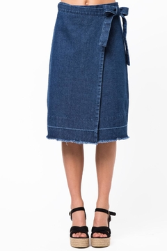 Shoptiques Product: Raw Hem Wrap Skirt