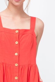 Movint Red Button Front Dress - Back cropped