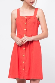 Movint Red Button Front Dress - Front cropped