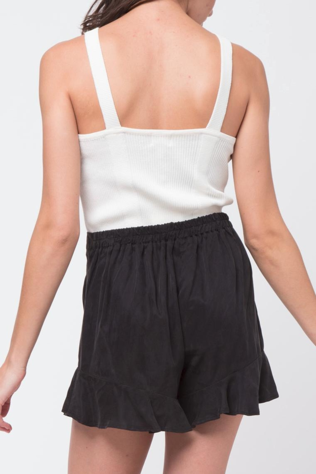 Movint White Knit Tank - Side Cropped Image
