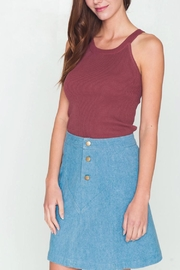 Movint Ribbed Halter Neck Knit Tank - Back cropped