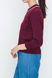 Movint Ribbed Varsity Sweater - Front full body