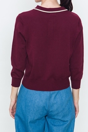 Movint Ribbed Varsity Sweater - Side cropped