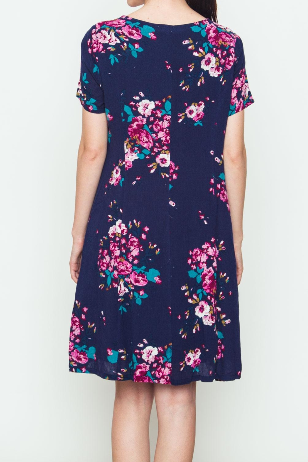 Movint Rose Bouquet Dress - Side Cropped Image