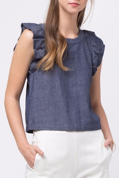 Shoptiques Product: Ruffle Detailed Sleeveless Top