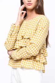 Movint Gingham Ruffle Blouse - Side cropped