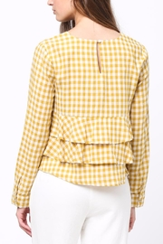 Movint Gingham Ruffle Blouse - Front full body