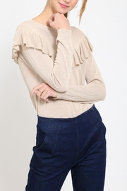 Movint Ruffle Detail Sweater - Front cropped
