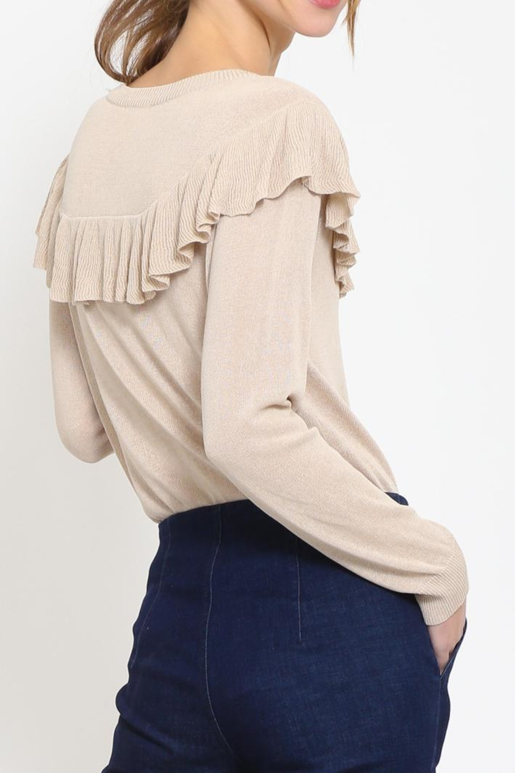 Movint Ruffle Detail Sweater - Side Cropped Image