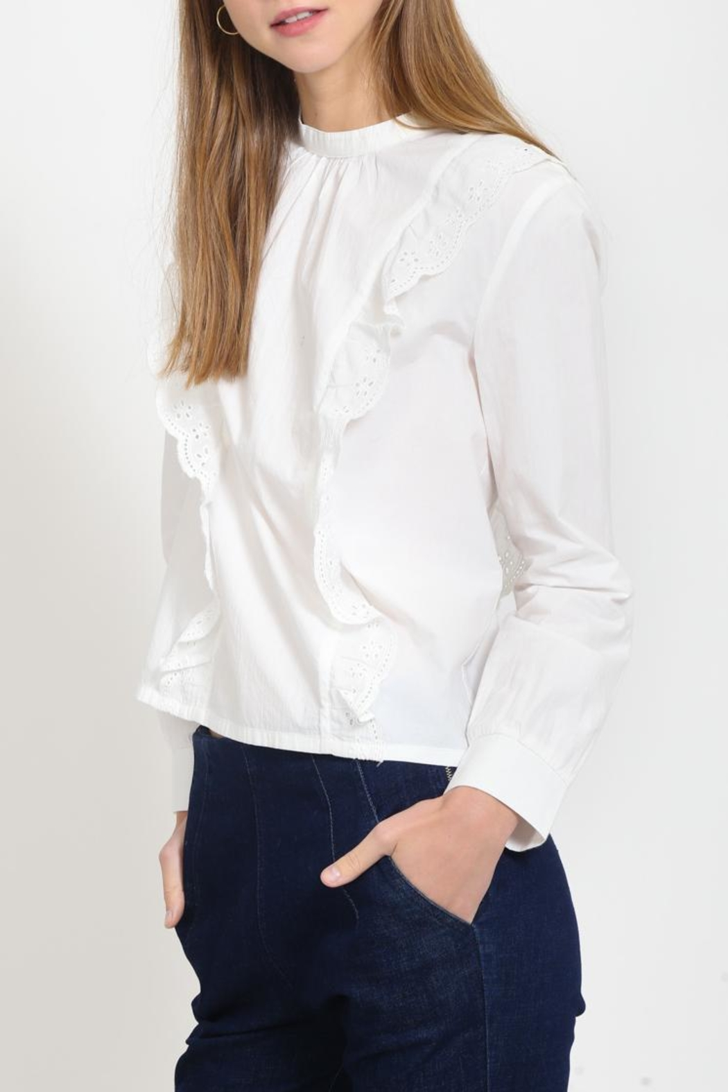 Movint Ruffle Detail Top - Front Full Image