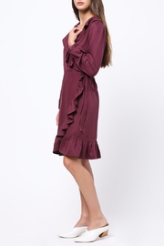 Movint Ruffle Detailed Wrap Dress - Side cropped