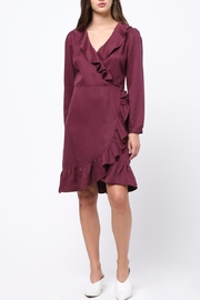 Movint Ruffle Detailed Wrap Dress - Front cropped