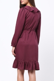 Movint Ruffle Detailed Wrap Dress - Front full body
