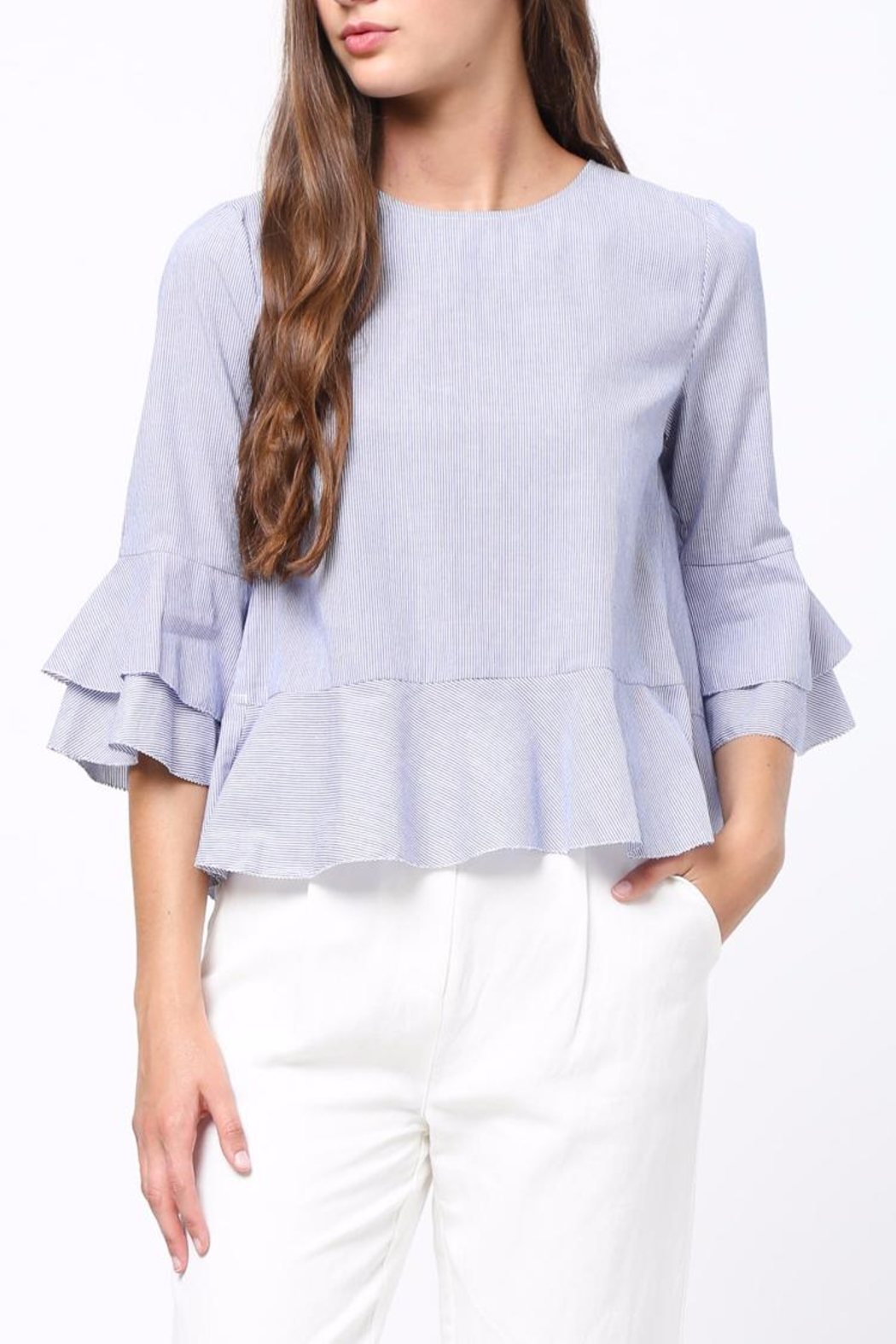 Movint Ruffle Detaliled Top - Front Cropped Image