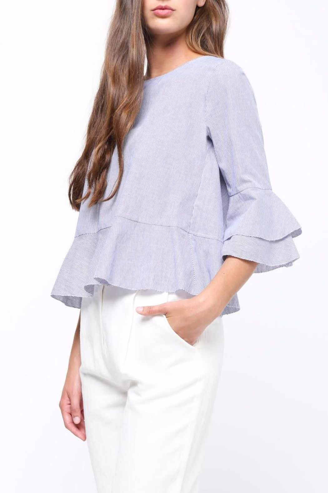 Movint Ruffle Detaliled Top - Side Cropped Image