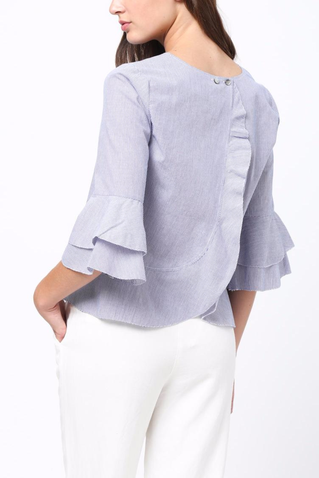 Movint Ruffle Detaliled Top - Front Full Image
