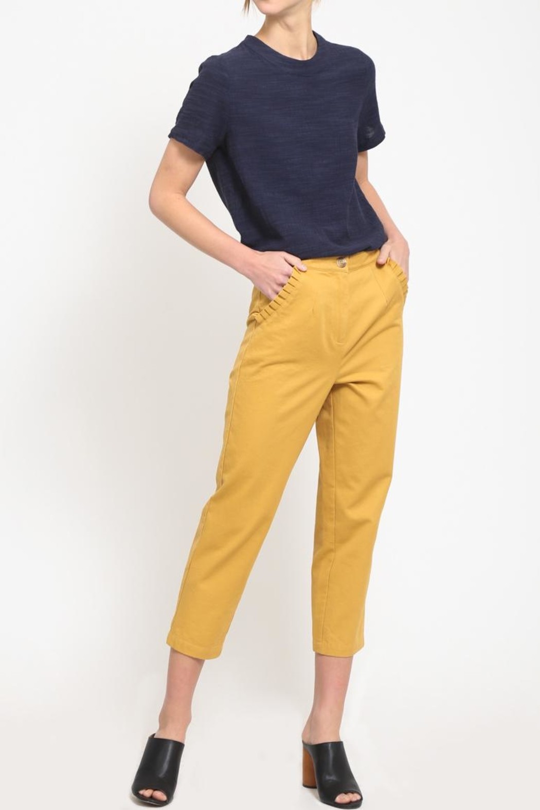 Movint Ruffle Pocket Trousers - Front Full Image
