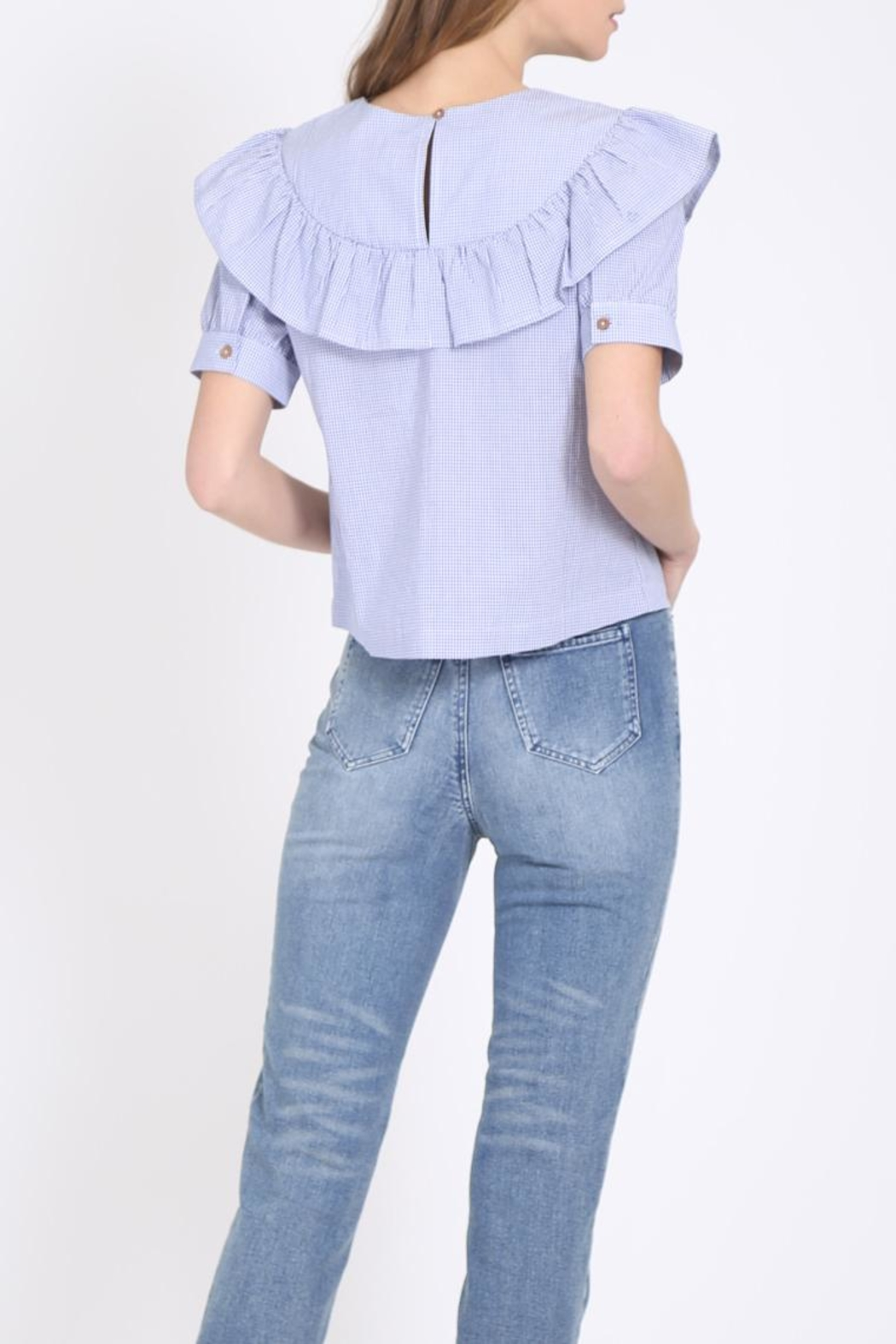 Movint Ruffle Sleeve Top - Side Cropped Image