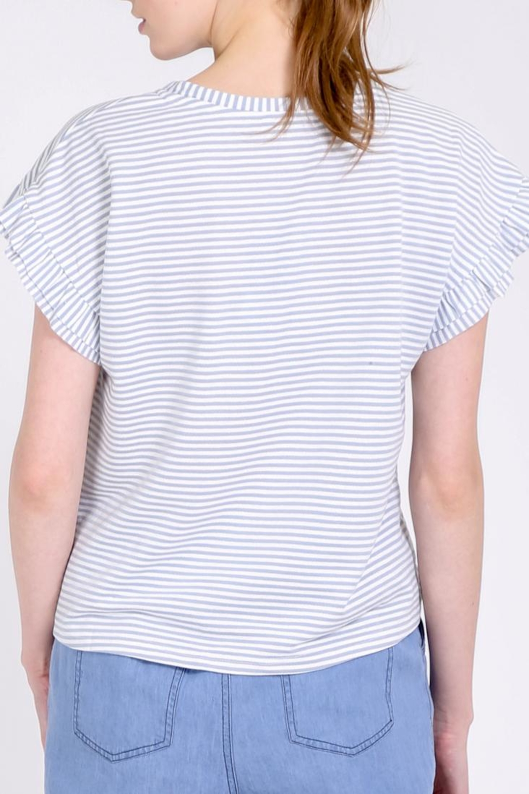 Movint Ruffle Tee Shirt - Side Cropped Image