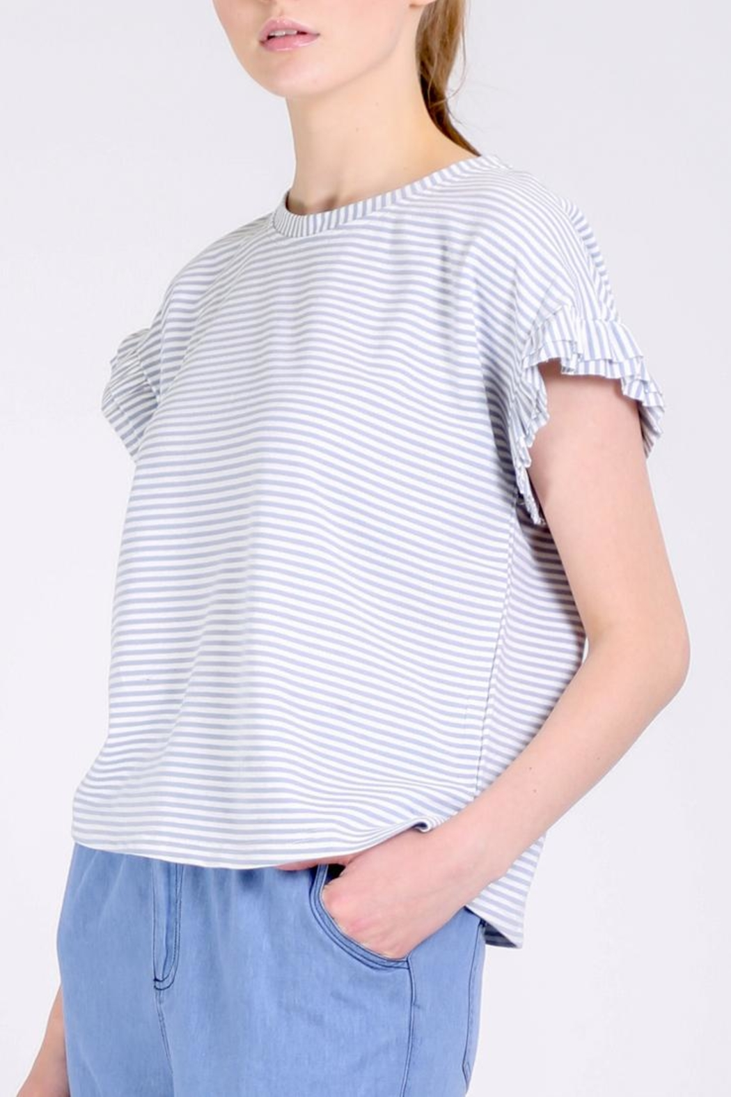 Movint Ruffle Tee Shirt - Front Full Image