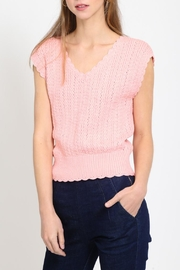 Movint Scalloped Shoulder Sweater - Front cropped