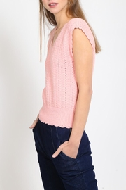 Movint Scalloped Shoulder Sweater - Front full body