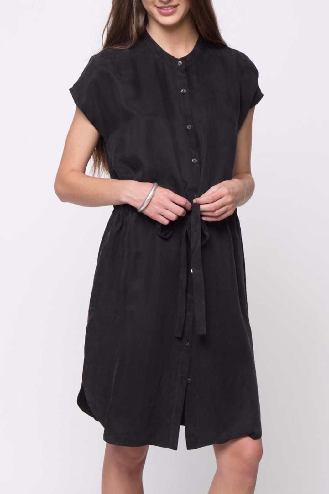 Movint Mandarin Collar Dress - Front Cropped Image