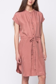 Movint Mandarin Collar Dress - Front cropped