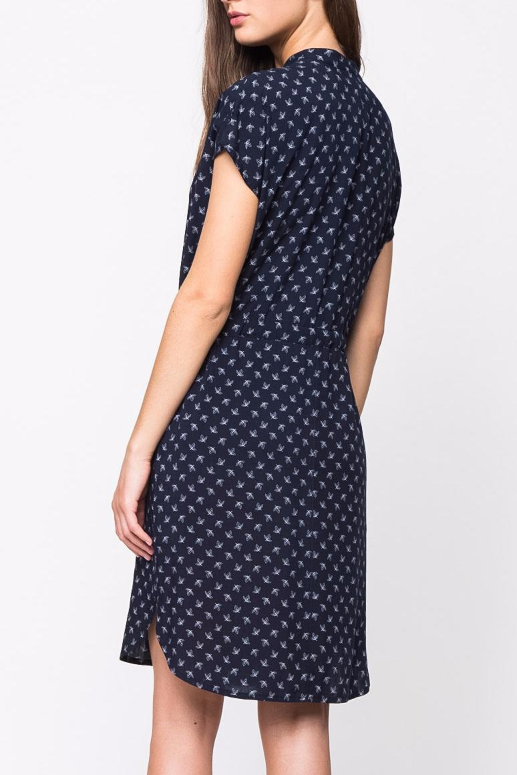 Movint Mandarin Collar Dress - Front Full Image