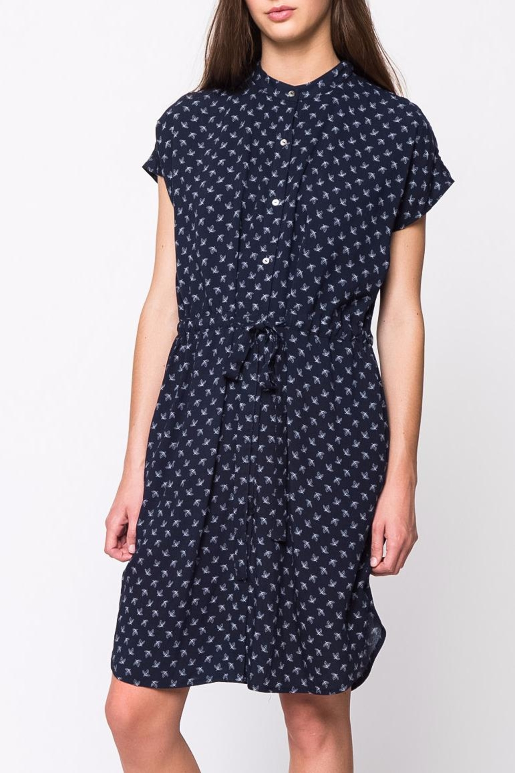 Movint Mandarin Collar Dress - Main Image