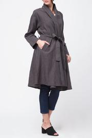Movint Shawl Collar Linen Coat - Product Mini Image
